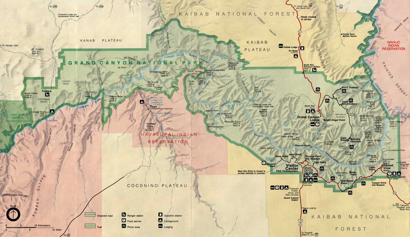 Grand Canyon National Park Maps