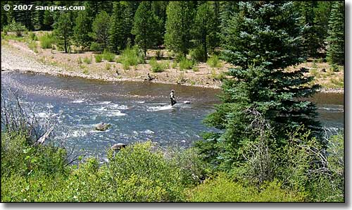 Fishing in the Conejos River