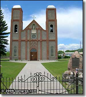 The first church built in Colorado