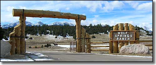 Wolf Springs Ranch gate