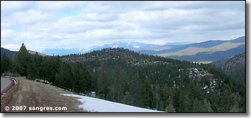 Wheeler Peak Massif in the distance