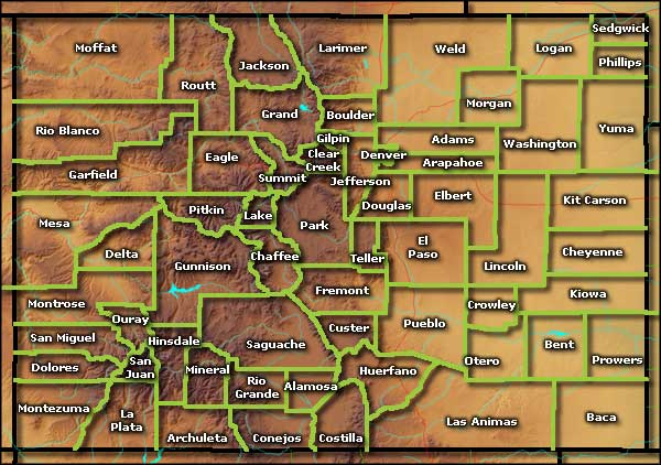 Colorado Information Photos And Maps - Maps of colorado cities