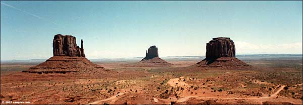 The Mittens in Monument Valley on the Navajo Nation