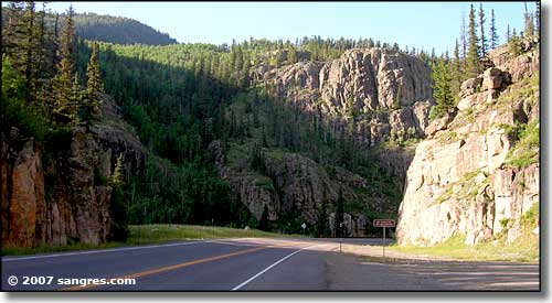 Along the highway over Wolf Creek Pass