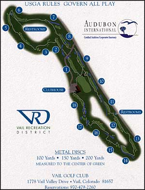 Vail Golf Club links map
