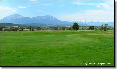 Looking south across Walsenburg Golf Course