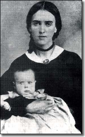 Josefa Carson, wife of Kit Carson, with son Kit Jr.