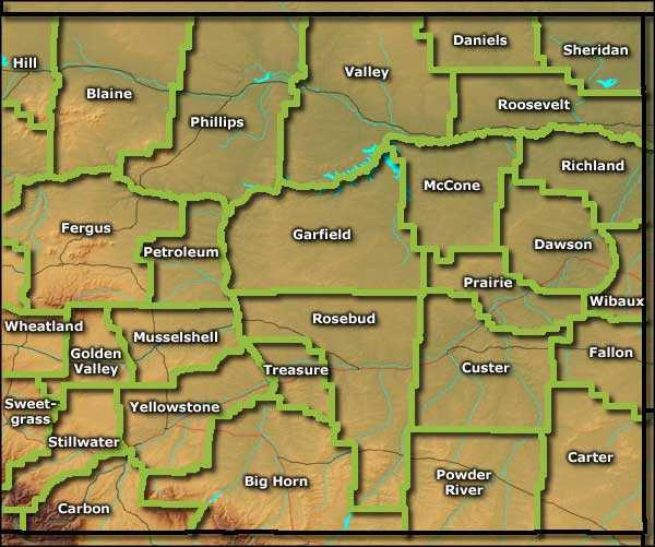 Montana Information Photos And Maps - Eastern montana map