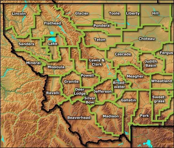Montana Information Photos And Maps - Map of western montana