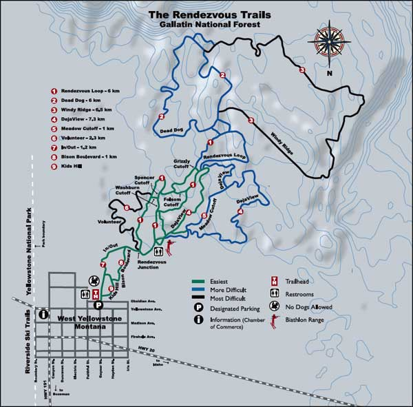 Rendezvous Ski Trails, West Yellowstone, Montana