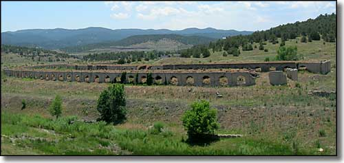 Remains of the coke ovens in Cokedale, Colorado