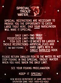Special Trout Waters sign