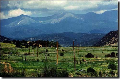 the view west from Weston, Colorado