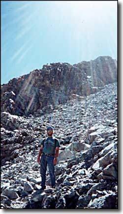 The author on Mt. Lindsey