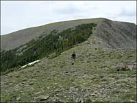 approaching South Greenhorn Peak