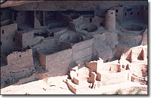 Cliff dwellings at Mesa Verde National Park