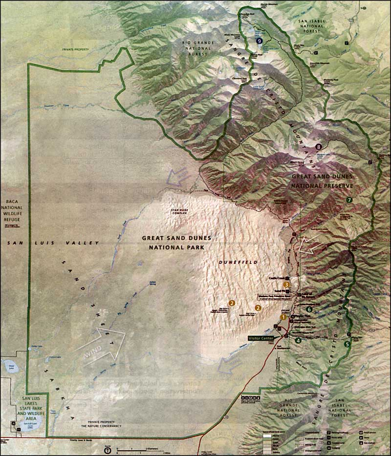 Great Sand Dunes Wilderness map