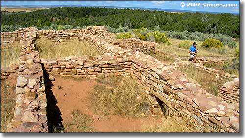 A section of the ruins at Lowry Pueblo