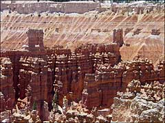 A zoomed-in view from Bryce Point
