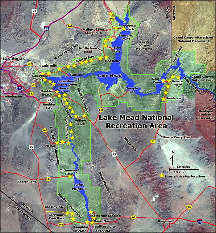 Lake Mead National Recreation Area map