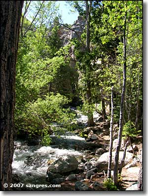 Zapata Falls national recreation area, southern Colorado