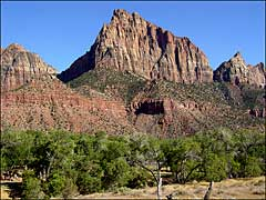 The Watchman rock formation