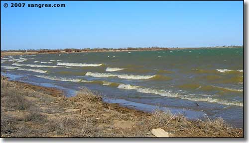 Wave action on Lake Meredith