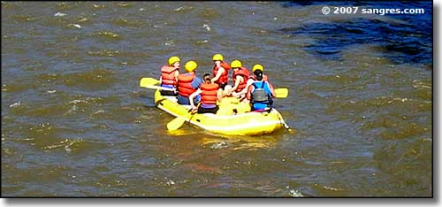 Whitewater rafters near Canon City