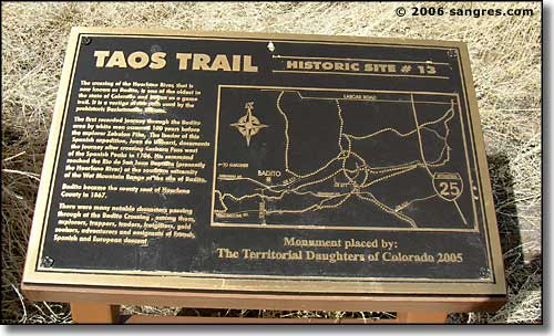 the historic marker at Badito Crossing, Colorado