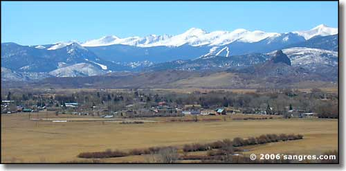 the setting of La Veta, Colorado