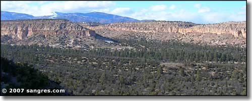The canyon just east of Los Alamos