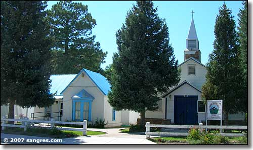 Old church on Main Street in Chama, NM