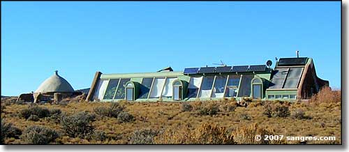 earthship living in a rural paradise