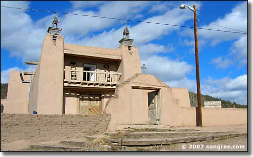 Old mission church in Las Trampas, New Mexico