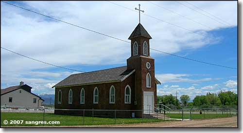 One of the churches in Blanca, Colorado