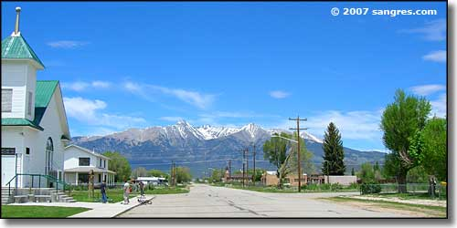Mt. Blanca from the town of Blanca