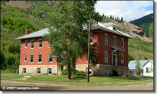 The old schoolhouse in Silverton, Colorado