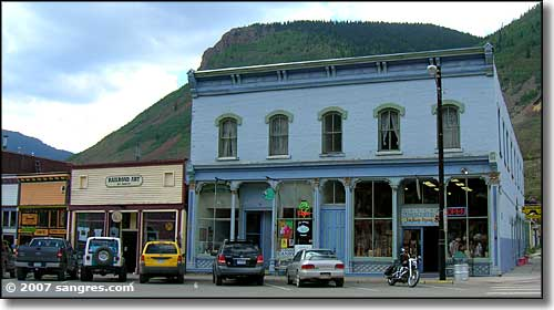 Greene Street in downtown Silverton, Colorado