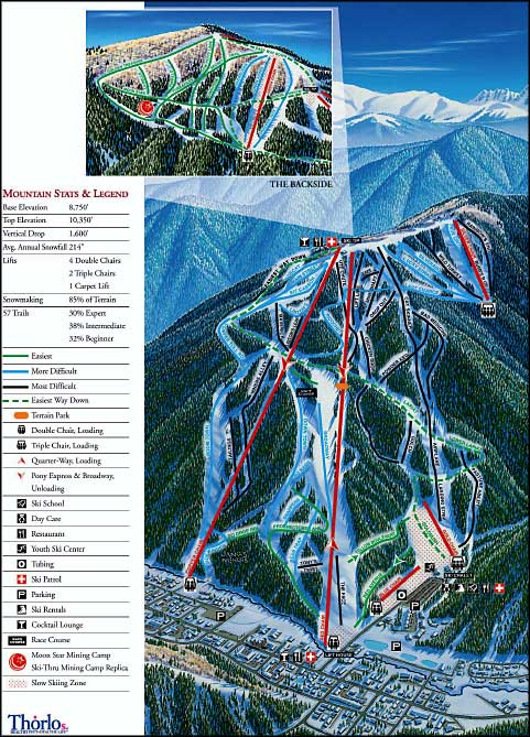 Map of Red River Ski Area