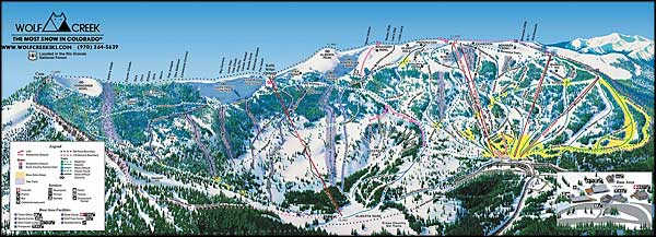 Wolf Creek Ski Trails map