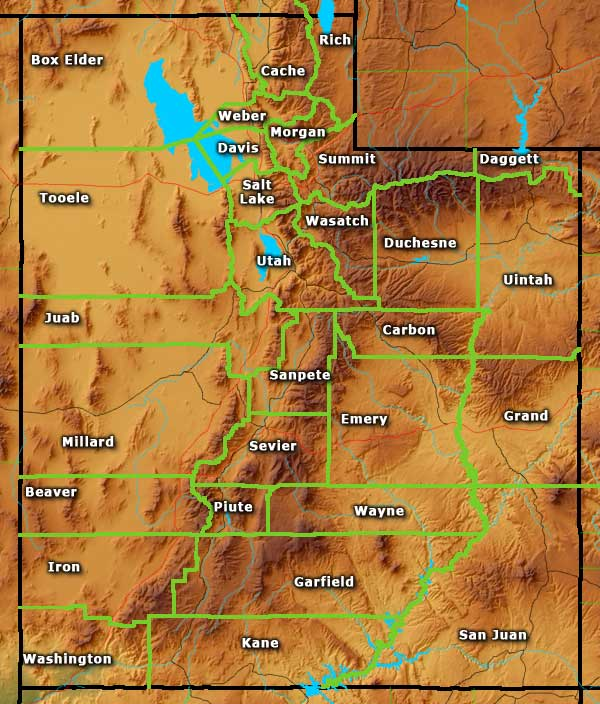 Utah Information Photos And Maps - Map of utah county