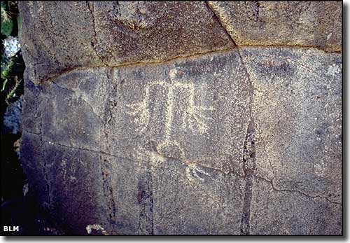 Petroglyphs in Agua Fria Canyon