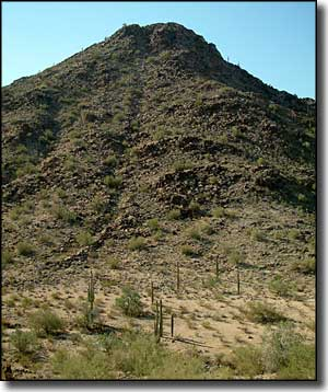A volcanic plug in the North Maricopa Mountains Wilderness
