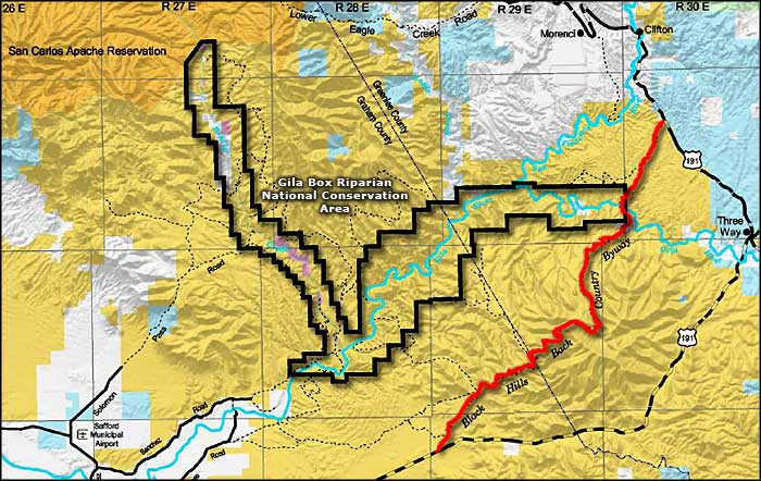 Black Hills Back Country Byway area map