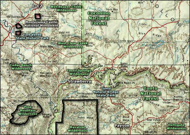 Fort Verde State Historic Park area map