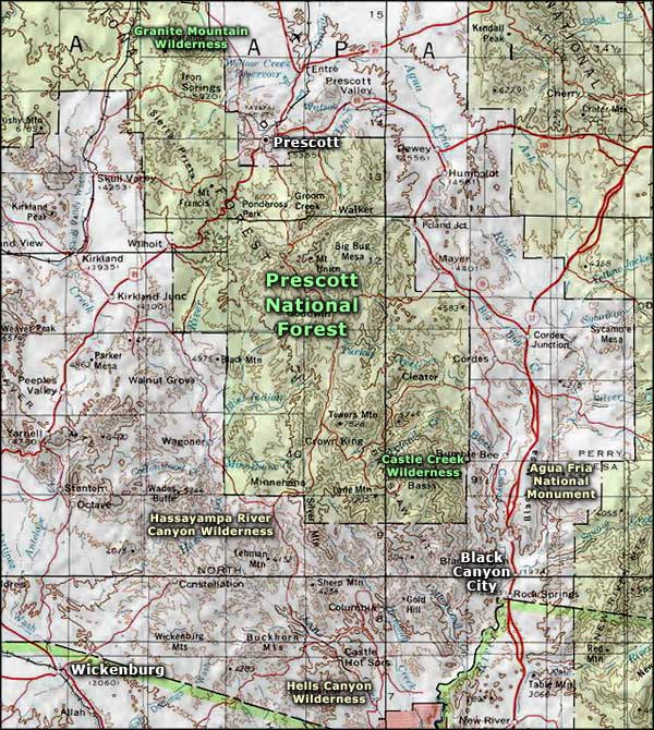 Agua Fria National Monument area map