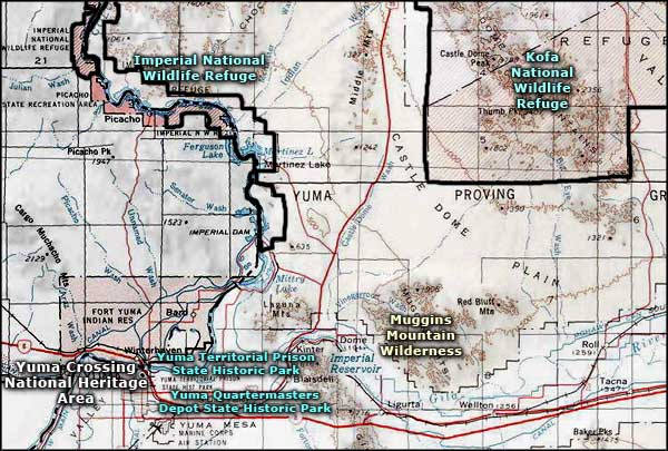 Yuma Crossing National Heritage Area area map