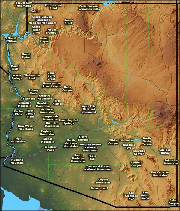 Bureau of Land Management Sites in Arizona