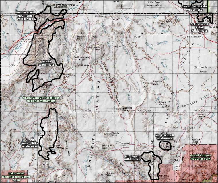 Cottonwood Point Wilderness location map