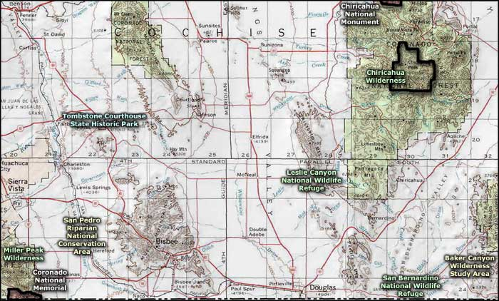 Baker Canyon Wilderness Study Area topo map